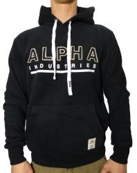 Alpha Industries Big A Classic Felt Hoody schwarz