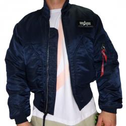 Alpha Industries CWU 45 Jacke Bomberjacke blue navy