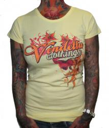 Vendetta Sports Girlie - Flowers Gelb