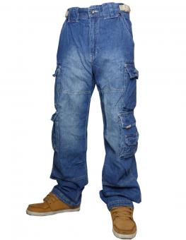 Jet Lag Cargohose 007 Jeans denim light navy