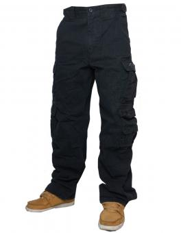Jet Lag Cargohose 007 Security black schwarz
